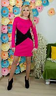 Модельное платье с кожей малина, фото 1