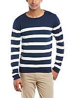 Мужской легкий синий свитер в полоску  Kew от Tailored & Originals в размере M