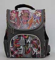 Школьный рюкзак для девочки. Рюкзак с ортопедической спинкой. Новый рюкзак. Каркасный рюкзак. Код:КТМ253.