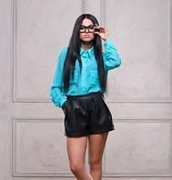Женские кожаные шорты (эко-кожа)