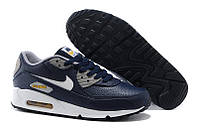 Кроссовки мужские Nike Air Max 90 Premium LTR Obsidian/White/Wo кроссовки найк аир макс, кроссовки nike купить