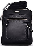 Стильная кожаная молодежная сумка через плече Lab Pal Zileri City 26116/10 черный