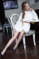 Молодежное платье с длинными рукавами,юбка клеш
