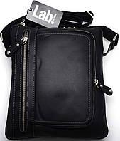 Удобная кожаная молодежная сумка через плече Lab Pal Zileri City 26117/10 черный