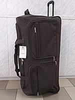 Очень большая дорожная сумка на  колесах LYS  8431 Франция коричневая 150 литров