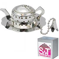 Заварник для чая в чашке с подставкой 6 * 2,5 см, декор Чайник SNT 37223