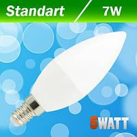 Лампа светодиодная С37 свеча BIOM  (нейтральный белый) 7W Е14