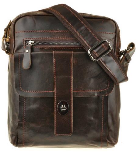 Кожаный коричневый мужской мессенджер BEXHILL Bx028