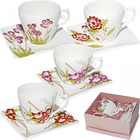 Набор чайный 2 предмета чашка 320мл,блюдце14,5*13,5*1,5см SNT 200-01