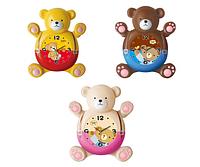 Часы настенные Детские с маятником Мишка кварц. Пластик 31*10*34.5 см SNT 05-020