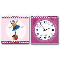 Часы настенные на холсте двух секционные Балерина (28*28см 1 секция) SNT 06-107