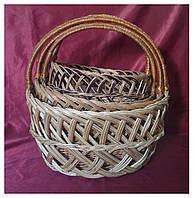 Набор корзин плетеных