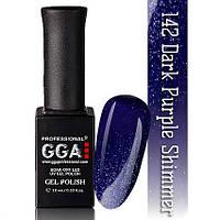 Гель лак GGA №142 (Dark purple shimmer)
