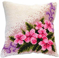 Набор для вышивки подушки Цветочная виньетка РТ-147