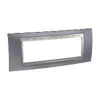 Рамка Schneider-Electric Unica Top 6-постов металлик/алюминий. MGU66.106.097