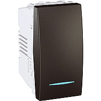 Переключатель Schneider-Electric Unica 1-клавишный перекрестный с инд. графит. MGU3.105.12N