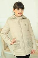 Весенняя куртка на девочку весна  ''ЛУИ ВИТОН'' бежевая
