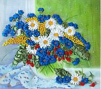 Набор для вышивания лентами Полевые цветы на окне НЛ-3014