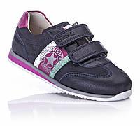 Кроссовки кожаные детские для девочек фиолетовые ортопедические супинатор 27,29,30 Tutubi