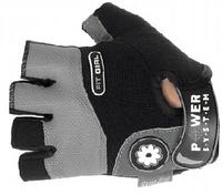 POWER SYSTEM перчатки для тренировки, фитнеса СЕРЫЕ
