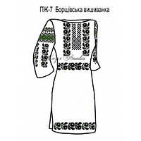 Плаття жіноче №7 Борщівська вишиванка (зелена)