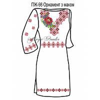Плаття жіноче №98 Орнамент з маком
