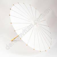 Китайский зонтик из бумаги, белый, d38 см