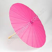 Китайский зонтик из бумаги, розовый, d38 см