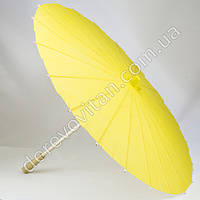 Китайский зонтик из бумаги, желтый, d56 см