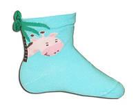 """Детские носочки """"Жираф"""" с объемным рисунком для малышей"""