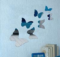 Декоративное акриловое зеркало 7 бабочек