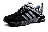 Кроссовки мужские Adidas Flyknit2, черно-серые, фото 1