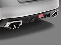 Накладки на задний бампер на глушитель алюминиевые Subaru Impreza WRX и WRX STI 2008-14 новые оригинал