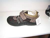 Туфли ортопедические кожаные мальчикам школа р.35 коричневые на липучке