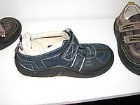 Туфли ортопедические кожаные мальчикам школа р.37 синие на липучке