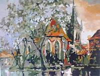 """Картина раскраска по номерам """"Осень в Праге"""" 40х50"""