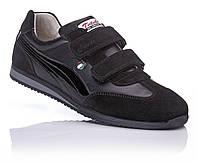 СКИДКА!!! Кожаная обувь Кроссовки черные супинатор   37,38,39,40