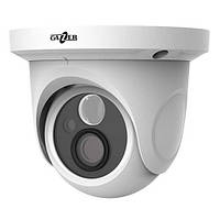 Видеокамера купольная Gazer CI223 для видеонаблюдения на 1 Мп формата AHD