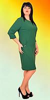 Платье в однотоне с форнитурой на карманах, фото 1