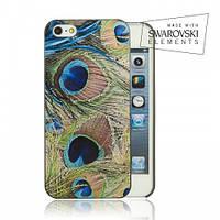 Накладка FaceCase SWAROVSKI iPhone 5C Peacock