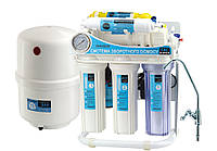 Система фильтрации воды обратного осмоса CAC-ZO-6Р/G/М (с насосом, манометром и минерализатором) Насосы+
