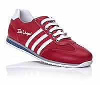 Кожаная ортопедическая обувь кроссовки для девочки красные  31,34,35,36
