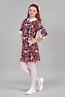 Модное детское платье в цветочный принт