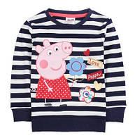 Детский свитер в полоску со Свинкой Пеппа