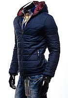 Мужская  Дутая  куртка на синтипоне синяя