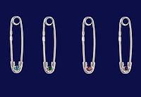 Булавка серебро 925 с фианитом, цирконием  33520