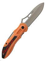 Нож складной для туристов, рыбаков, охотников  Ganzo G621-O оранжевый