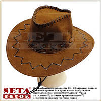 """Шляпа """"Дикий запад. Ранчо"""" карнавальная коричневая"""