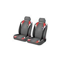 Накидки на передние сиденья автомобиля Hadar Rosen FORMULA Серый/Красный 21146