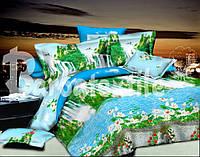 """Красивое постельное белье с цветочным рисунком  """"Ранфорc""""  157"""